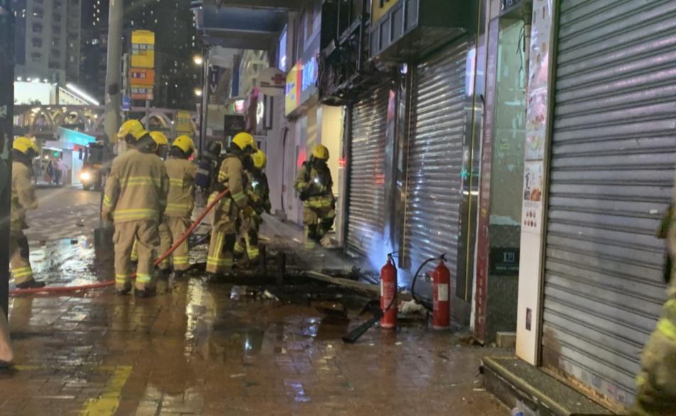 香港铜锣湾商铺被纵火 消防紧急疏散楼上住户