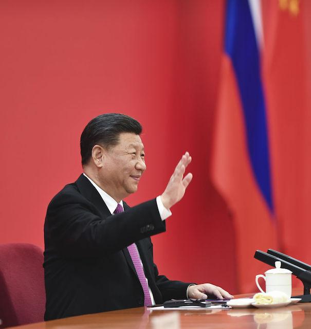12月2日,国家主席习近平在北京同俄罗斯总统普京视频连线,共同见证中俄东线天然气管道投产通气仪式。新华社记者谢环驰 摄
