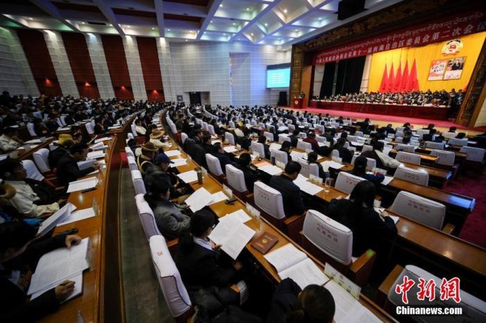 2019年1月9日,中国人民政治协商会议第十一届西藏自治区委员会第二次会议在拉萨开幕。中新社记者 何蓬磊 摄
