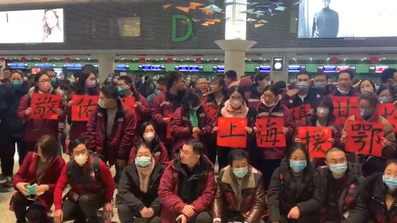 一次特殊的点名:沪首批医疗队除夕夜赴武汉驰援