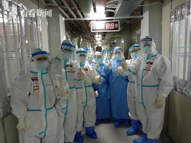 在武汉雷神山医院