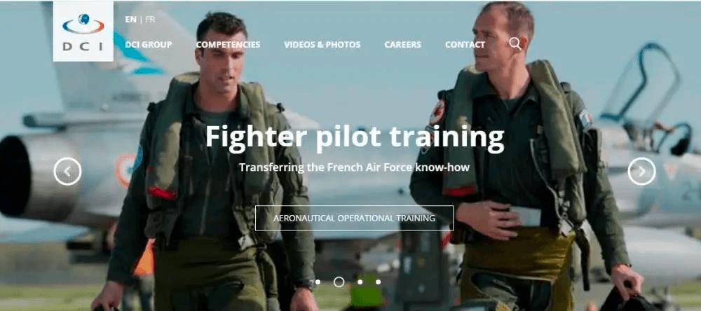 法国国防国际咨询公司DCI公司官网截图