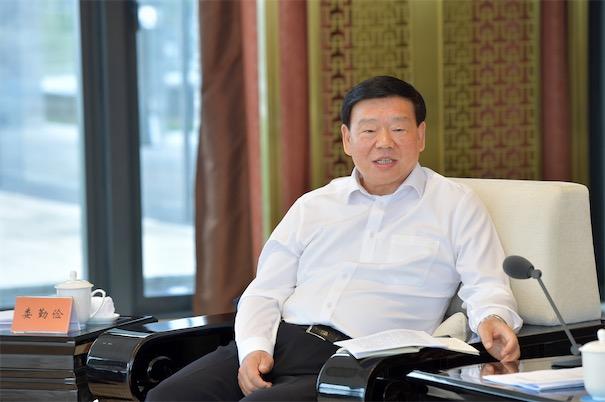 6月5日,2020年度长三角地区主要领导座谈会在浙江湖州举行,江苏省委书记娄勤俭讲话。