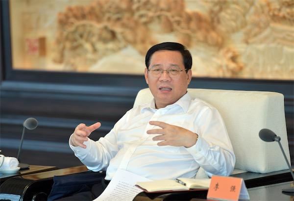6月5日,2020年度长三角地区主要领导座谈会在浙江湖州举行,上海市委书记李强讲话。