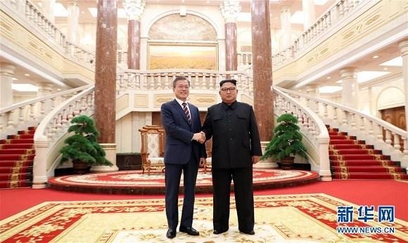 2018年9月18日 金正恩与文在寅在平壤会晤