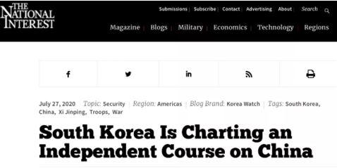 《国家利益》:韩国奉行独立的对华路线