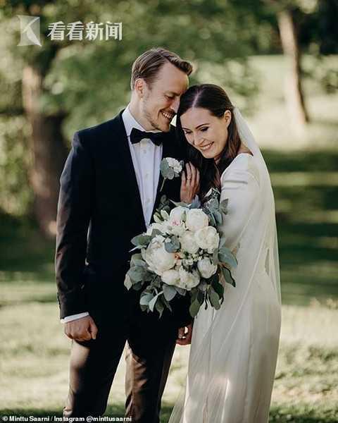 芬兰女总理结束16年爱情长跑 婚纱照曝光