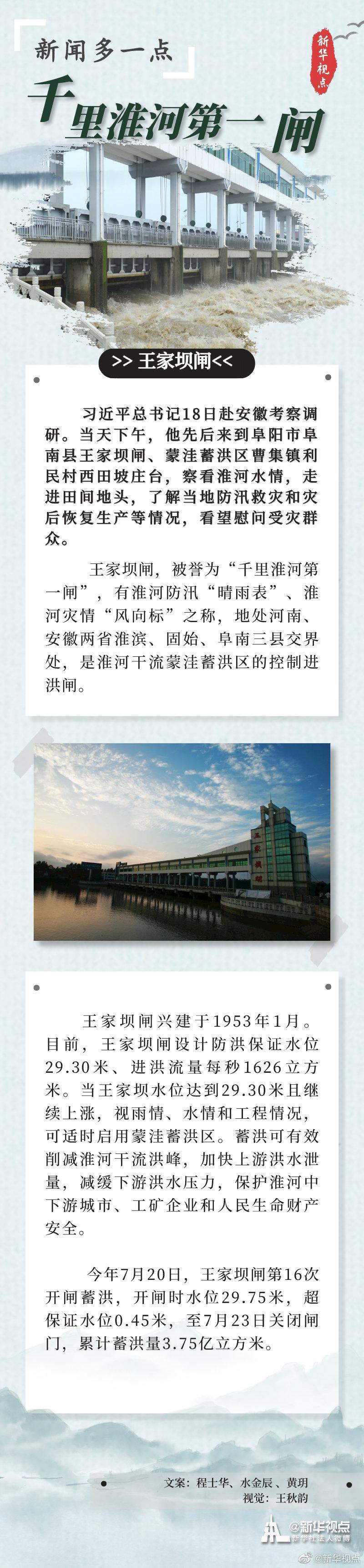 总书记刚刚考察过的千里淮河第一闸