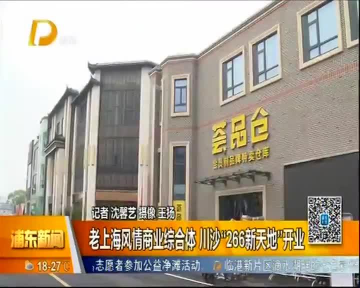 """老上海风情商业综合体 川沙""""266新天地""""开业"""