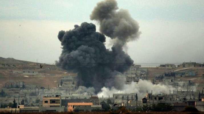 叙利亚遭空袭资料图