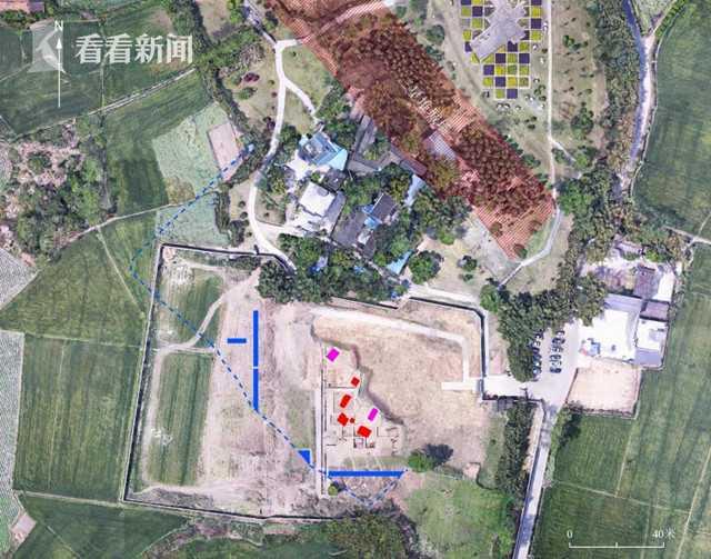 三星堆遗址祭祀区祭祀坑布局位置图