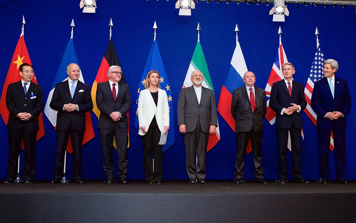 2015年伊朗核协议签订现场