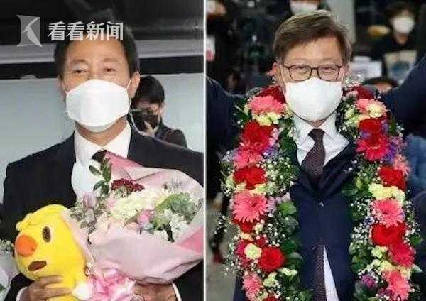 左为吴世勋,右为朴亨埈