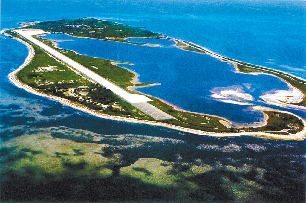 台防务部门目前正在进行机场跑道扩建工程(图片来源:中时新闻网)