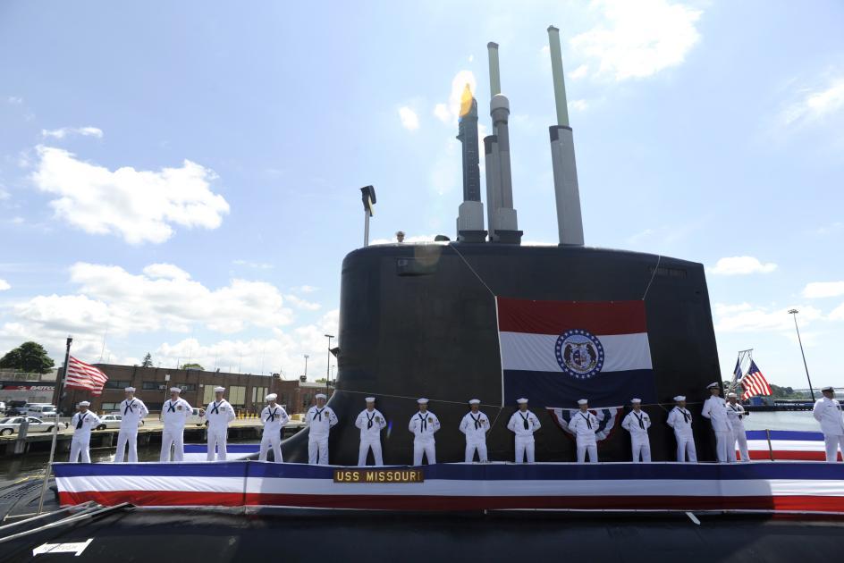 """资料图:美军""""密苏里""""号核潜艇"""