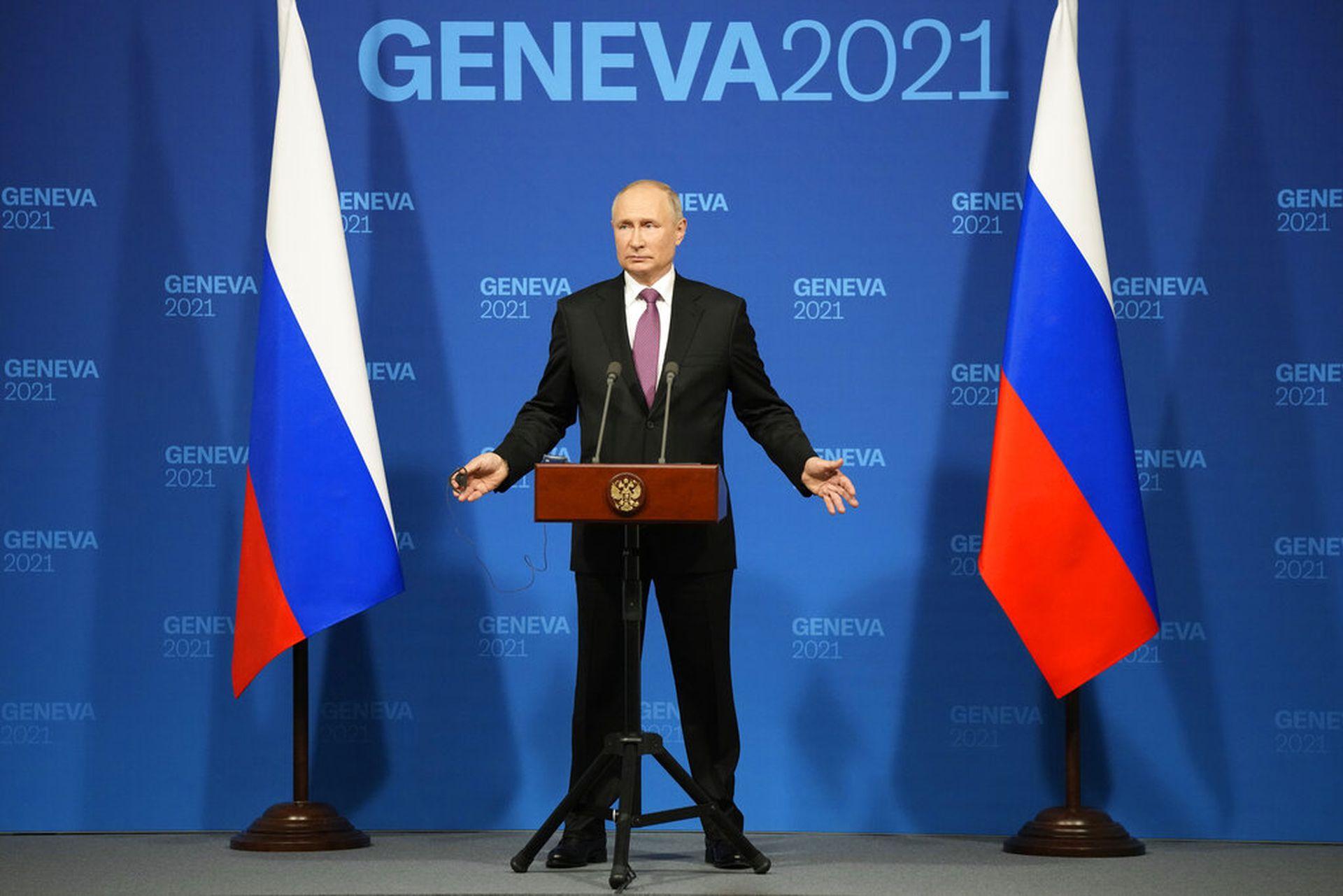 俄美首脑峰会结束 普京召开新闻发布会