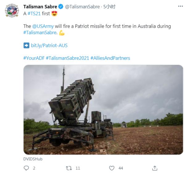 澳军少将埃尔伍德在社交媒体发文