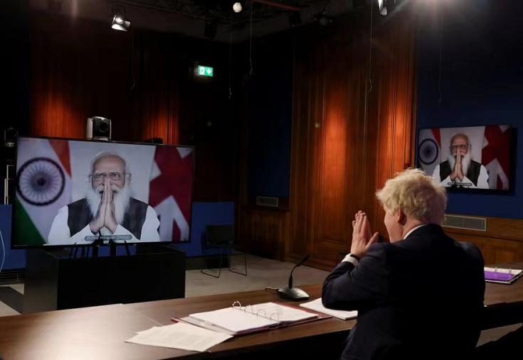 英印領導人舉行視頻會議 兩國關系提升為全面戰略伙伴關系