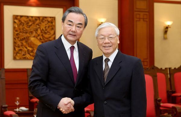 9月11日,越共总书记阮富仲会见中国外长王毅