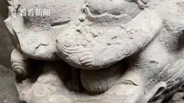 《【金牛3品牌】视频|北京正阳桥遗址考古发掘:明代镇水兽出土》