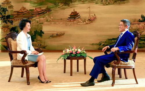 2021年10月11日 外交部副部长乐玉成接受中国国际电视台《视点》栏目专访