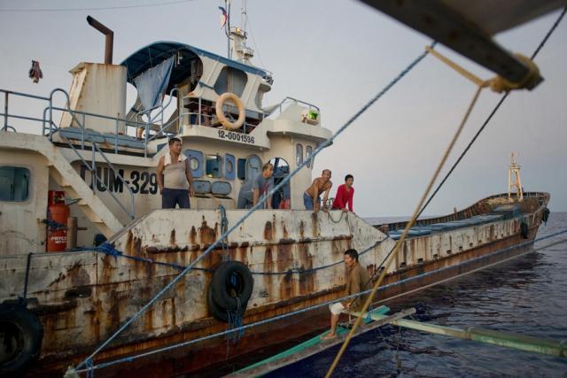 菲律宾在中国南海费信岛上驻军