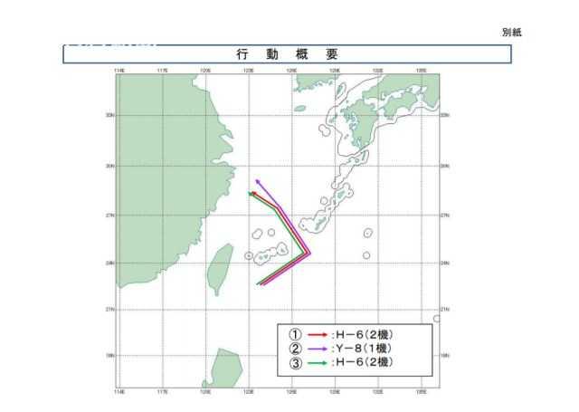 中国空军五款战机齐出动绕台飞行 日方神经紧张实拍:轰-6K挂实弹_平凉门户新闻